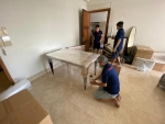 Packing dining table