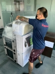 Packing office equipment